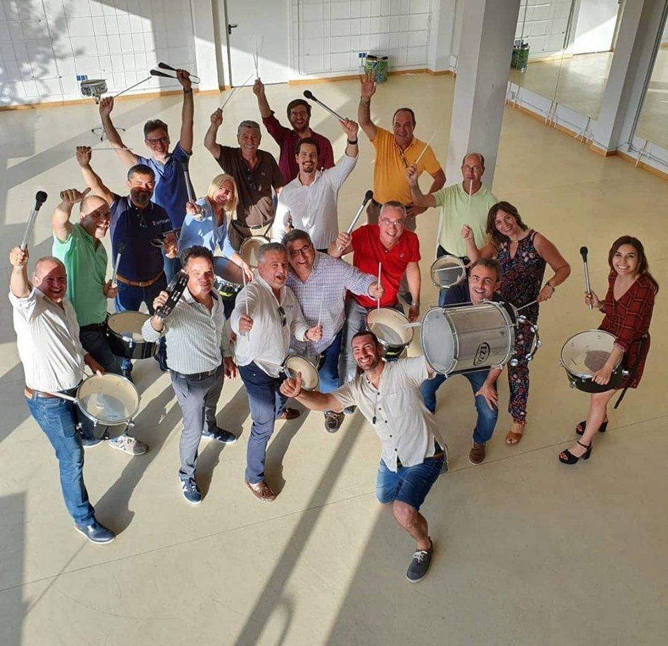 team building percusio scania